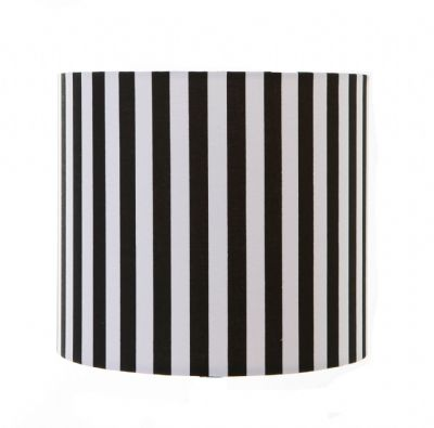 Black and White ,  Drum / Cylinder Lampshade
